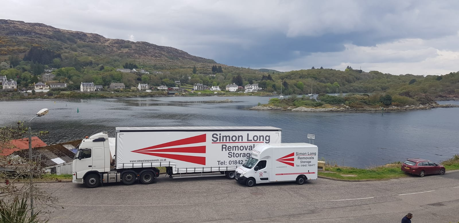 Simon Long Removals large lorry and removal van